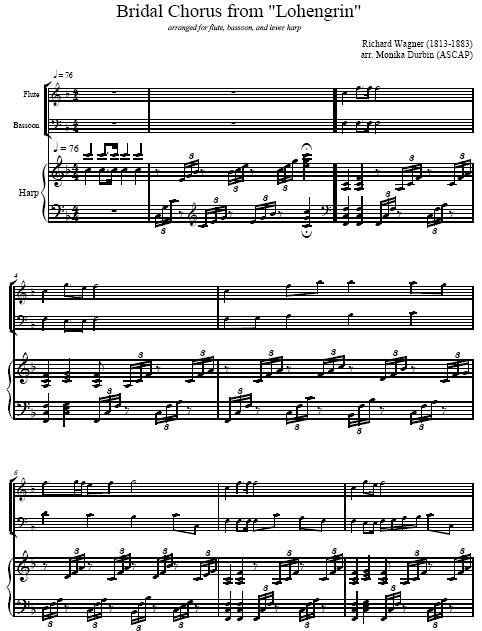 Wedding Music For Flute Bassoon Amp Harp