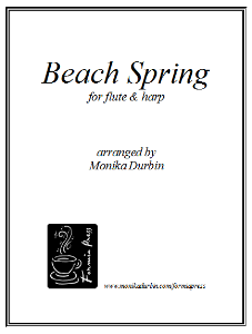 beach spring for flute & harp - sheet music