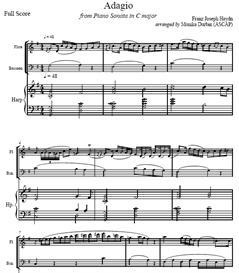 Adagio by Haydn for Flute, Bassoon & Harp - Sheet Music | eBooks | Sheet Music