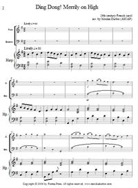 Ding Dong Merrily on High - Flute, Bassoon & Harp | eBooks | Sheet Music