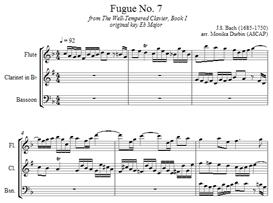 Bach Fugue 7 - Flute, Clarinet & Bassoon | eBooks | Sheet Music