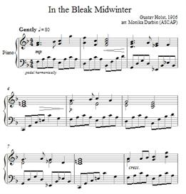 In the Bleak Midwinter for Piano - Sheet Music | eBooks | Sheet Music