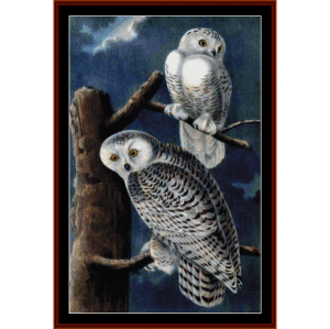 Snowy Owls II - Wildlife cross stitch pattern by Cross Stitch Collectibles | Crafting | Cross-Stitch | Wall Hangings