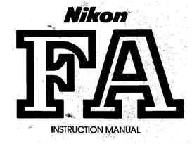 nikon fa instruction manual