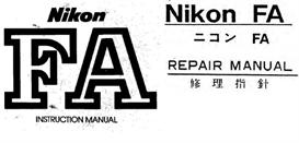 Nikon FA Repair Manual & Instruction Manuals | Other Files | Photography and Images