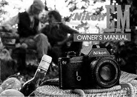 Nikon EM Instruction Manual | Other Files | Photography and Images
