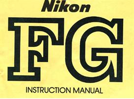 Nikon FG Instruction Manual | Other Files | Photography and Images