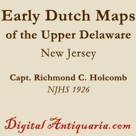 early dutch maps of the upper delaware valley