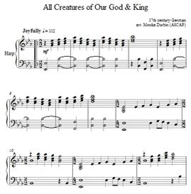 All Creatures of Our God and King - Harp Solo | eBooks | Sheet Music
