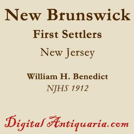 first settlers of new brunswick (new jersey)
