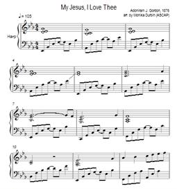 My Jesus I Love Thee for Harp - Sheet Music | eBooks | Sheet Music