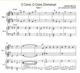 O Come, O Come, Emmanuel for Harp Duet | eBooks | Sheet Music