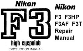 nikon f3 hp (high eyepoint) repair manual & instruction manual