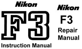 nikon f3  repair manual & instruction manual