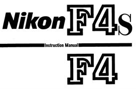 nikon f4 f4s instruction manual