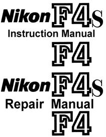 nikon f4 f4s repair manual & instruction manual