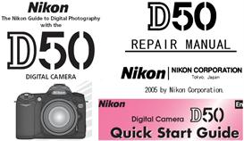 nikon d50 repair manual & instruction manual & quick start guide
