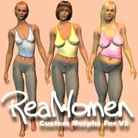 RealWomen Custom Morphs For V3 | Software | Design