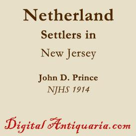 Netherland Settlers in New Jersey | eBooks | History
