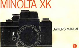 Minolta XK 35mm SLR Camera Instruction Manual | Other Files | Photography and Images