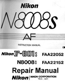 Nikon N8008s F801s Repair Manual & Instruction Manual | Other Files | Photography and Images
