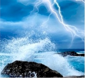 Stormy Beach - Ocean and Storm Nature Sounds | Audio Books | Health and Well Being