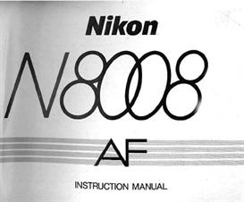 Nikon N8008 F801 Instruction Manual | Other Files | Photography and Images