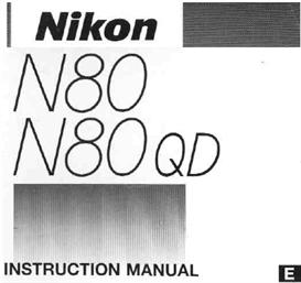 Nikon N80 F80 35mm Camera Instruction Manual | Other Files | Photography and Images
