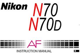 Nikon N70 N70D F70 35mm Camera Instruction Manual | Other Files | Photography and Images