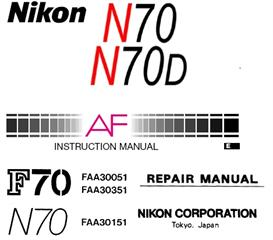 Nikon N70 N70D F70 F70D Repair & Instruction Manuals | Other Files | Photography and Images
