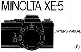Minolta XE-5 35mm Camera Instruction Manual | Other Files | Photography and Images