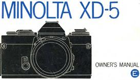 Minolta XD-5 XD5 35mm Camera Instruction Manual | Other Files | Photography and Images