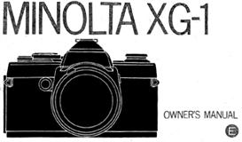 Minolta XG-1 XG1 35mm Camera Instruction Manual | Other Files | Photography and Images