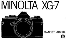 Minolta XG-7 XG7 35mm Camera Instruction Manual | Other Files | Photography and Images