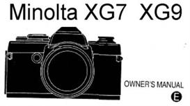 Minolta XG-9 XG9 35mm Camera Instruction Manual | Other Files | Photography and Images