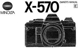 Minolta X-570 X570 35mm Camera Instruction Manual | Other Files | Photography and Images