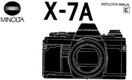 Minolta X-7A X7A 35mm Camera Instruction Manual X370 X370s | Other Files | Photography and Images