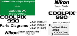 nikon coolpix 990 user manual - menu guide- fast track -parts diagrams
