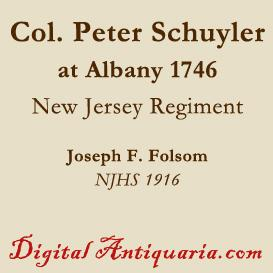 Colonel Peter Schuyler at Albany (1746) | eBooks | History