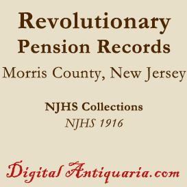 Revolutionary Pension Records of Morris County (New Jersey) | eBooks | History