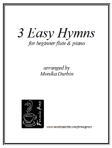Download the Sheet Music eBooks | 3 Easy Hymns for Beginner Flute & Piano - Sheet Music