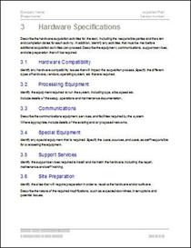 Acquisition Plan Template | Software | Software Templates