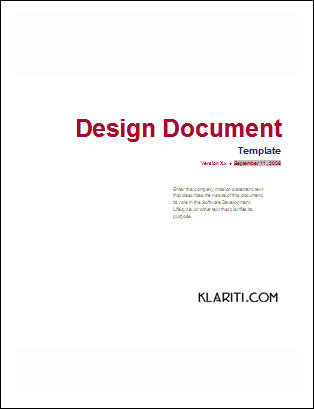 Database design document template software software templates pronofoot35fo Gallery