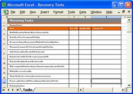 disaster recovery templates