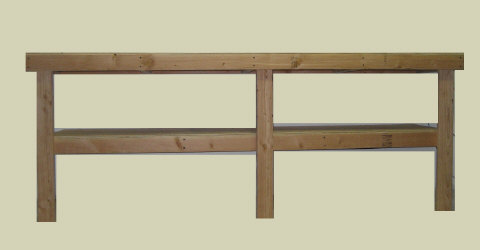 Plans - Build your own 8' Workbench w/shelf | eBooks | Home and Garden