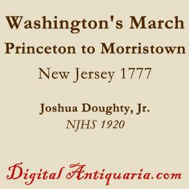 washington's march from princeton to morristown
