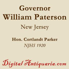 governor william paterson