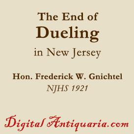 End of Duelling in New Jersey | eBooks | History