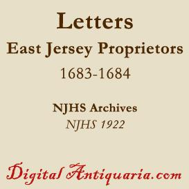 East Jersey Proprietors Letters, 1683-'84 | eBooks | History