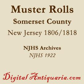 Military Muster Rolls, 1806 & 1818 - Somerset County | eBooks | History
